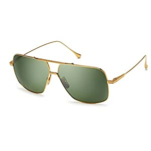 Dita FLIGHT. 005 7805 D-18K 18K Gold-w/Vintage Green-Black Flash-AR Sunglasses