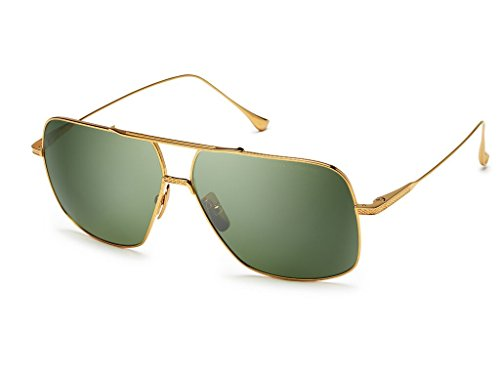 Dita FLIGHT. 005 7805 D-18K 18K Gold-w/Vintage Green-Black Flash-AR - Sunglasses Dita Men