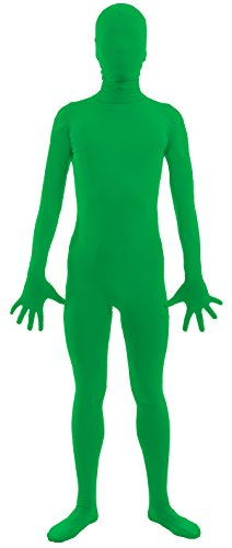 [VSVO Adult Green 2nd Skin Full Body Zentai Supersuit Costumes (Medium, Green)] (Dance Fans Costumes Accessories)