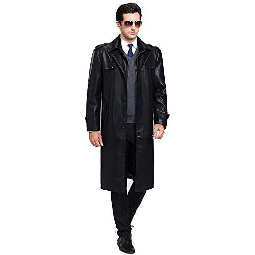 Solapa Sección Escudo Oveja Cuero Piel 180 Negro De Hombre Cuero Larga Edad Hombres De De Media Chaqueta Ropa Black Ropa XSQR qXg4ApX