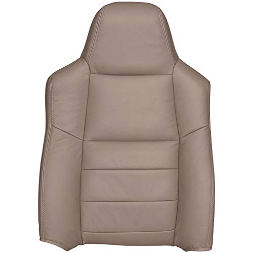 The Seat Shop Driver Top Replacement Leather Seat Cover - Medium Pebble Tan (Compatible with 2005-2007 Ford F250 and F350 Lariat Crew Cab, and 2005 Ford Excursion Limited and XLT)