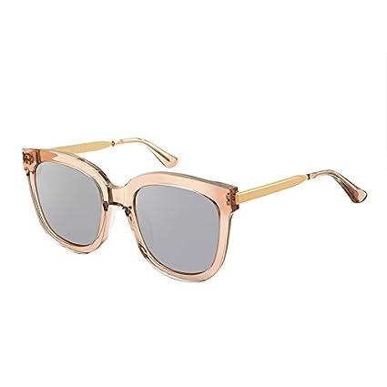 Komny Gafas de sol polarizadas marea de mujeres Estrella Roja neta gafas mujer delgada cara redonda