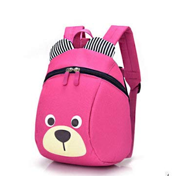 (Children's Little Backpack Nylon Cloth Anti-Lost Waistband Kids Bag - Outdoor Bag Travel & Storage Bags - (Rose) - 1 x Kid Backpack)