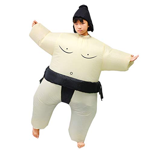 Sumo Wrestlers Costume (SIREN SUE Funny Sumo Inflatable Sumo Suit Wrestler Wrestling Suits Blow Up Suit for Child)