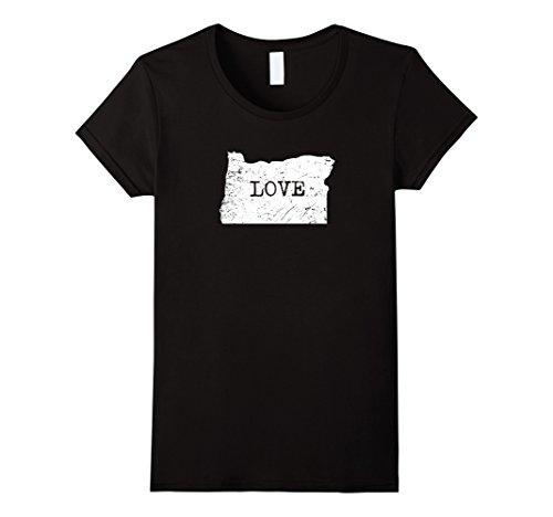 Womens Home Tees: I Love My Home State Oregon T-Shirt Small Black