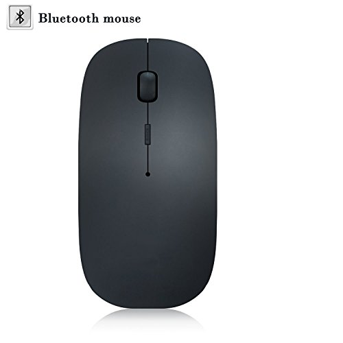 Slim Optical Mouse (ICFPWR Bluetooth Wireless Mouse, Slim Rechargeable 3 Adjustable DPI Level for PC/Tablet/Laptop and Windows/Mac/Linux, Silent & Smooth, Basic Design (Black))