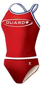 TYR 610TMGU1AXL Guard Dimaxback Tankini, Red, - Triathlon Tankini