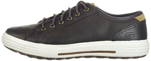 Skechers Porter Ressen - Zapatillas de deporte Hombre, Marrón - Marron (Dkbr Marron Foncée), 42,5