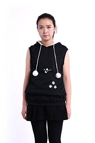 [Gomezra Japanese Sleeveless Pullover Kangaroo Pouch Cat Dog Pet Hoodie Sweater] (Cat Costume Ideas Adults)