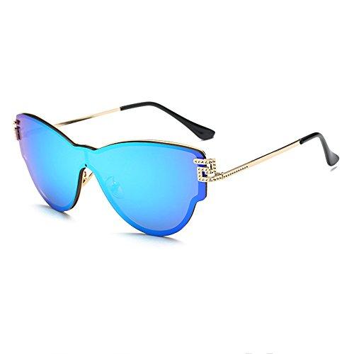 De Mujer De Sol Moda para Gafas De Gafas Pieza Blue Blanca Gray Pantalla Gafas Sol De Sol para Moda Una De De vYqx8w5