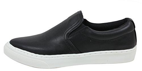 Frisdrank Dames Gesloten Teen Elastische Zijkant Witte Rubberen Zool Loafer Slip On (zwart, 5.5 B (m) Ons)