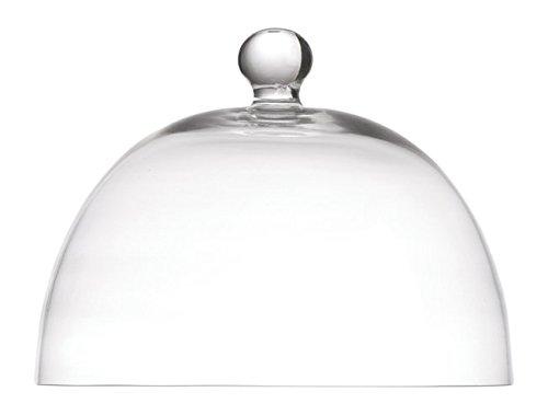 La Porcellana Arezzo Glass Dome D26 cm, White, 26 x 26 x 20 cm