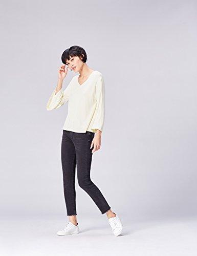 De Marfil Cuello Manga Y Camiseta Pico Larga Find cream Mujer qFZ856