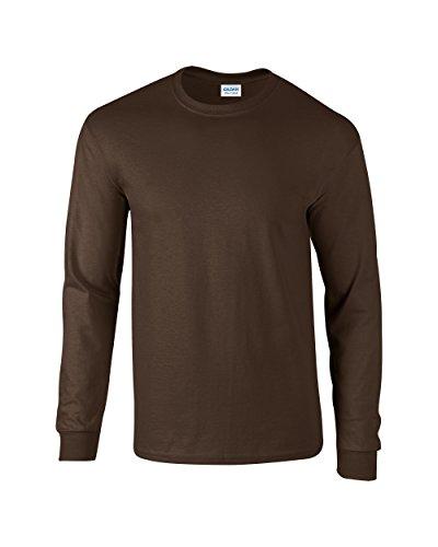 À Chocolat Coton Noir Gildan En shirt Longues Manches T PHPcBEqR