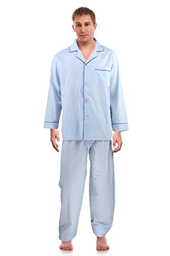 RK Classical Sleepwear Men's Broadcloth Woven Pajama Set, Size XX-Large Tall