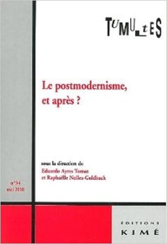 Tumultes, N° 34, Mai 2010 : Le postmodernisme, et après ? pdf