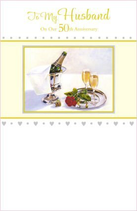 husband 50th wedding anniversary golden greeting card amazon co