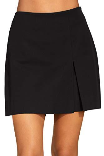 (Boston Proper Women's Everyday Side Zip Stretch Twill High-Rise Skort Black 2)