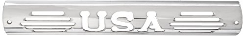 All Sales 54404P Polished Billet Aluminum Third Brake Light Cover - USA Logo (3rd Cover Light Brake)