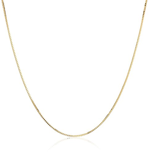 Gold Chain - 14k Gold Dipped 1mm Box Chain Necklace - Mens - Womens - Dainty - Timeless - Add your own pendant (16 - To A Eyeglass Repair Z