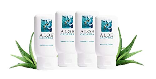 Aloe Cadabra Organic Personal Lubricant with Vitamin E, Natural, 2.5 oz (Pack of 4)