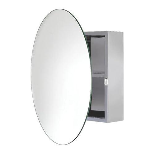 Croydex Severn Badezimmer Hängeschrank Aus Edelstahl Mit Rundem Spiegel