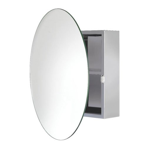 Croydex Severn Placard miroir circulaire en inox WC836005