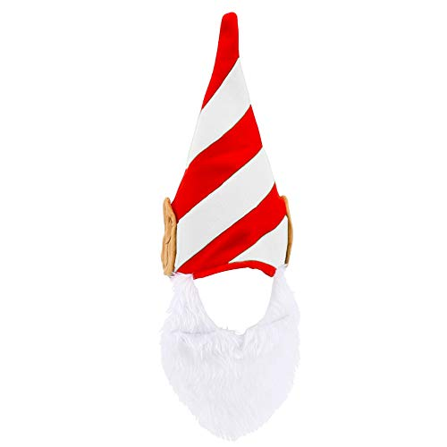 Elf Hat Christmas with Ears and Beard - Funny Costume for Adults
