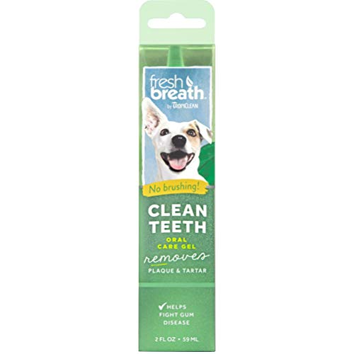 TropiClean Fresh Breath No Brushing Clean Teeth Dental & Oral Care Gel for Dogs, 2oz - Made in USA