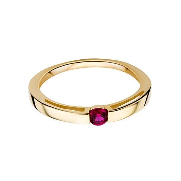 Miore anillo solitario de compromiso en oro amarillo de 9kt 375 con rubí rojo Miore anillo solitario de compromiso en oro amarillo de 9kt 375 con rubí rojo Miore anillo solitario de compromiso en oro amarillo de 9kt 375 con rubí rojo