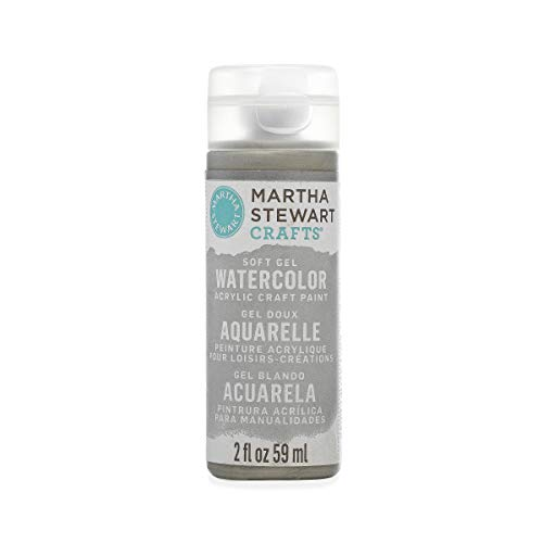 Martha Stewart Crafts Soft Gel Watercolor Acrylic Paint in Assorted Colors (2 Ounce), 33430 Metallic -