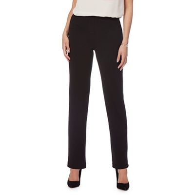 Debenhams The Collection Womens Black Regular Length Ponte Trousers