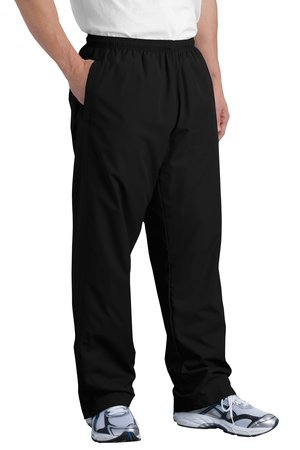 Sport-Tek Wind Pant, Black, 4XL