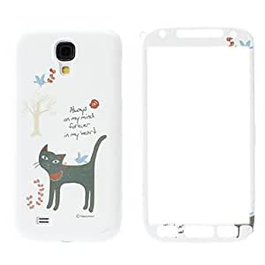 Lovely Cat Pattern Front and Back Case for Samsung Galaxy S4 I9500