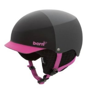 Bern Muse Hard Hat Helmet – Women's Matte Black/Magenta Hatstyle w/ Black Knit, M, Outdoor Stuffs