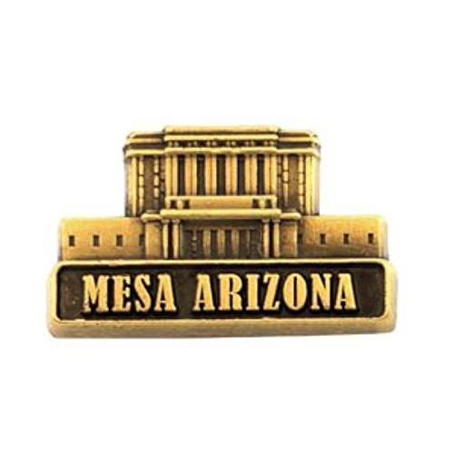 LDS Mens Mesa Arizona Temple Gold Steel Tie Tac / Tie Pin for Boys
