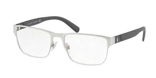 Polo PH1175 Eyeglass Frames 9010-56 - Matte Brushed Silver - Frames Glasses Polo For