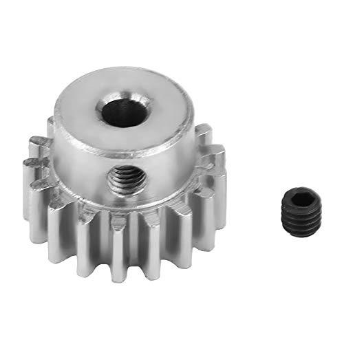 - Dilwe RC Motor Gear, Steel Metal Motor Pinion Gear 17T 0.8 Module for HIMOTO E10MTL/E10MT/E10BP 1/10 RC Car Part(Silver)