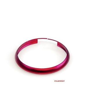 Schlüsselring, Farb Ring, Feuerrot: Amazon.de: Auto
