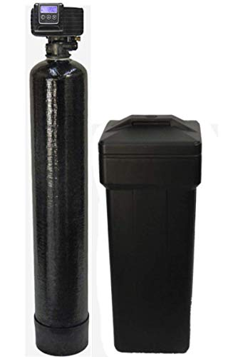 Fleck 5600sxt On Demand Water Softener with Resin Made in USA/Canada 40,000 Grains Black