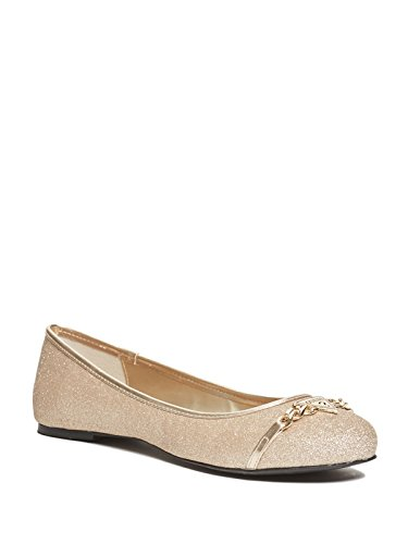 GUESS Factory Women's Genna Logo-Embossed Flats