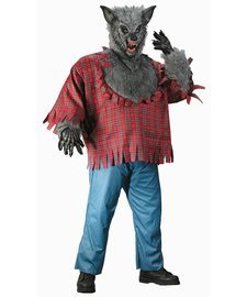Gray Plus Size Werewolf Costumes (Silver Grey Werewolf Plus Size Costume)