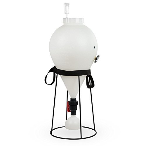 FastFerment Conical Fermenter 7.9 Gallon Home-Brew Kit SPECIAL EDITION - BPA Free Food grade Primary Carboy Fermenter. Beer Brewing, Wine Fermentation or a Hard Cider brewing kit (7.9 Gallon Special Edition)