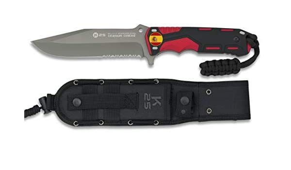 K25-32118GR1046 - Cuchillo Rojo/Negro. Hoja: 13.5cm ...