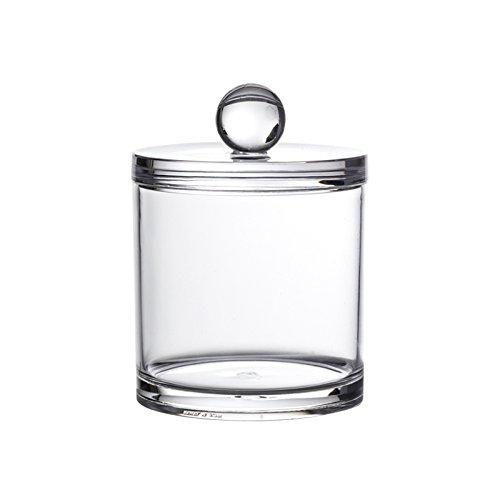 Serene Clear Acrylic Storage Jars By Showerdrape (Medium): Amazon.co.uk:  Kitchen U0026 Home