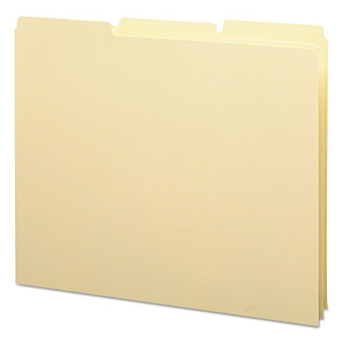 (Smead 50134 Recycled Tab File Guides Blank 1/3 Tab 18 Pt. Manila Letter 100/Box)
