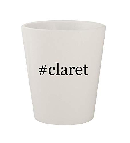 - #claret - Ceramic White Hashtag 1.5oz Shot Glass
