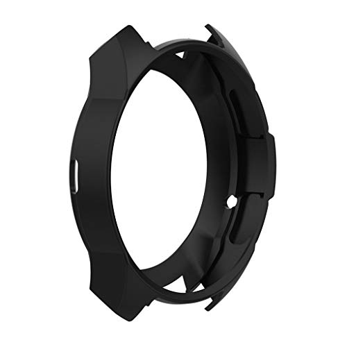 Cywulin Silicone Protection Case for Samsung Galaxy Watch 46mm, Soft TPU Scratch Proof Shockproof All-Around Protective Bumper Shell for Smartwatch SM-R805 SM-R800 Gear S3 Frontier (Black)