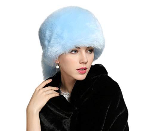 Amore Bridal Faux Fur Hat Winter Snow Hat Russian Cossack Cap Earmuff
