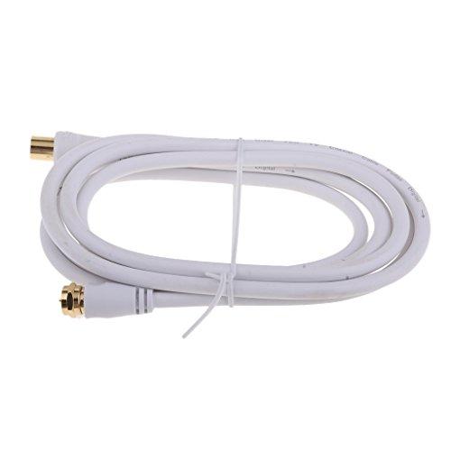 MagiDeal TV F Coaxial Cable F tipo Antena Macho A Macho Antena de Satélite Cable